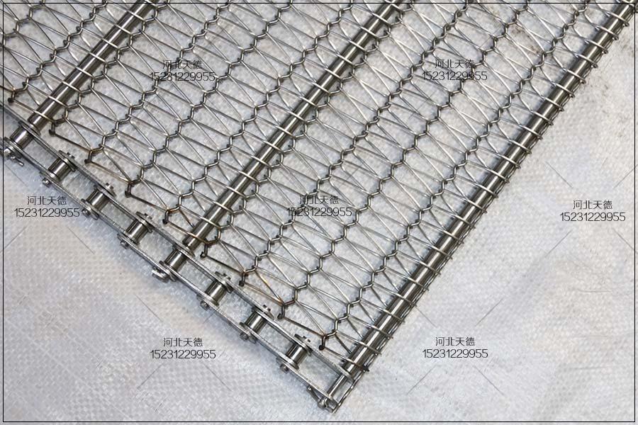 活性石灰生产线不锈钢网带非标链条磨损