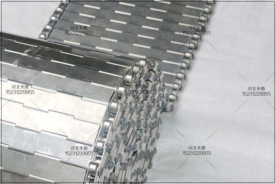 不锈钢耐高温打孔挡边板式输送带使用范围
