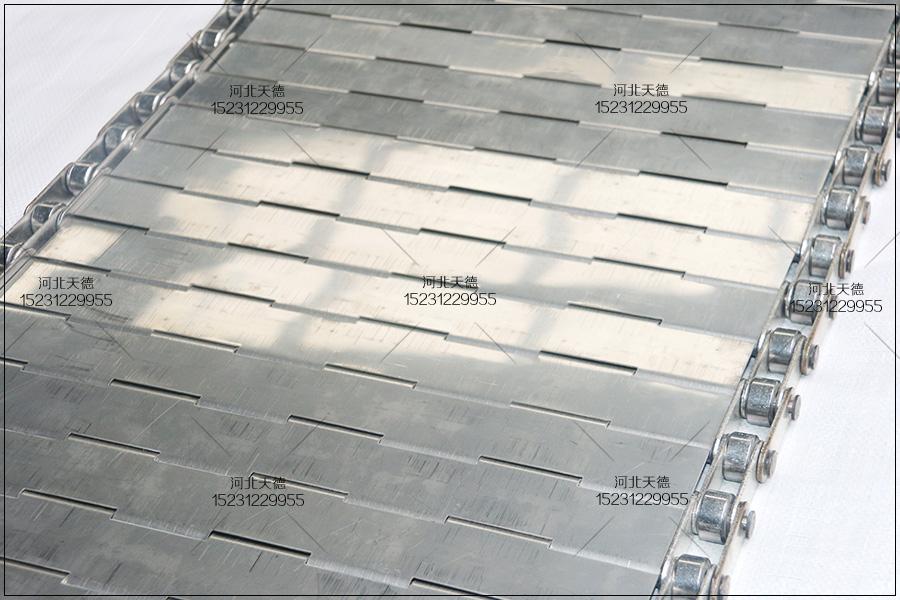 合页型不锈钢链板式食品输送带的组成