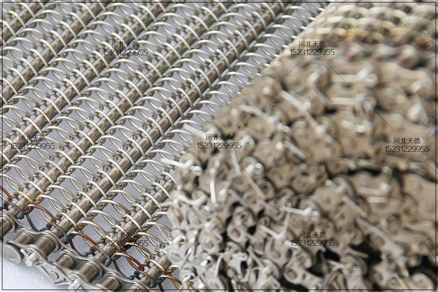 湖北省随州市腌辣椒不锈钢输送网带的订单规格
