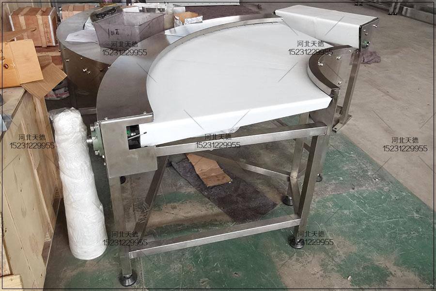 蛋糕饼干机械转弯皮带输送机