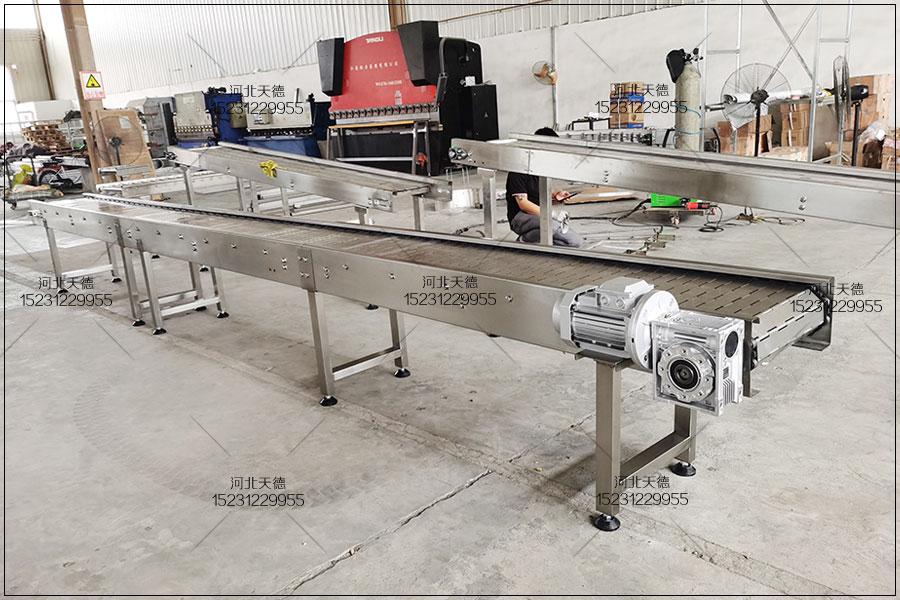 蔬菜丸子油炸流水线链板输送机选购方法