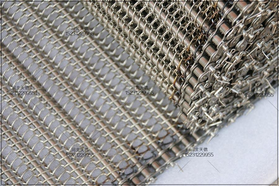 茄子油炸流水线网带网链的使用