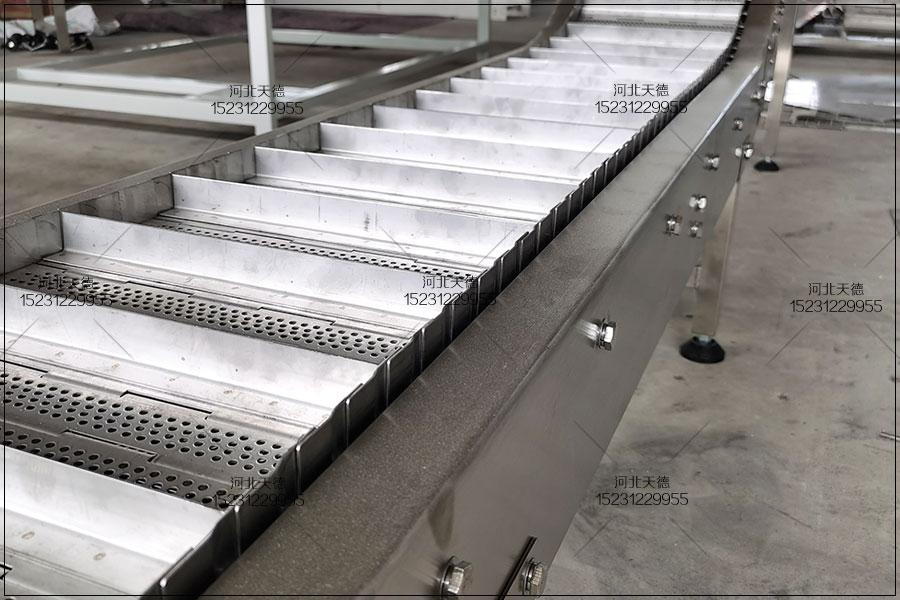 隧道用耐高温不锈钢板链提升输送机